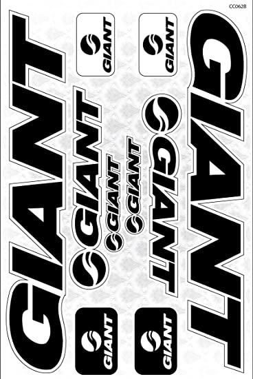 Giant bicycle frame decals stickers graphic set vinyl adesivi model b