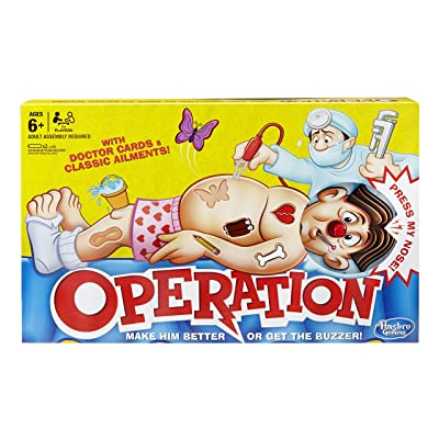 Hasbro Gaming Classic Operation Game: Toys & Games