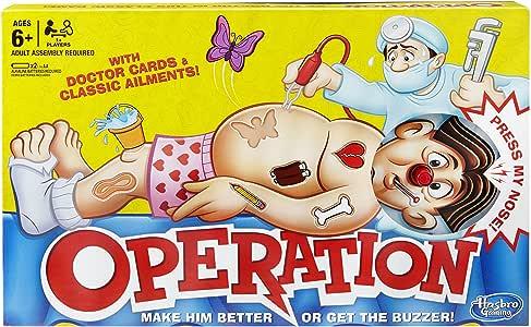 Hasbro - Operación (Juego de Mesa) (versión en inglés): Amazon.es: Juguetes y juegos