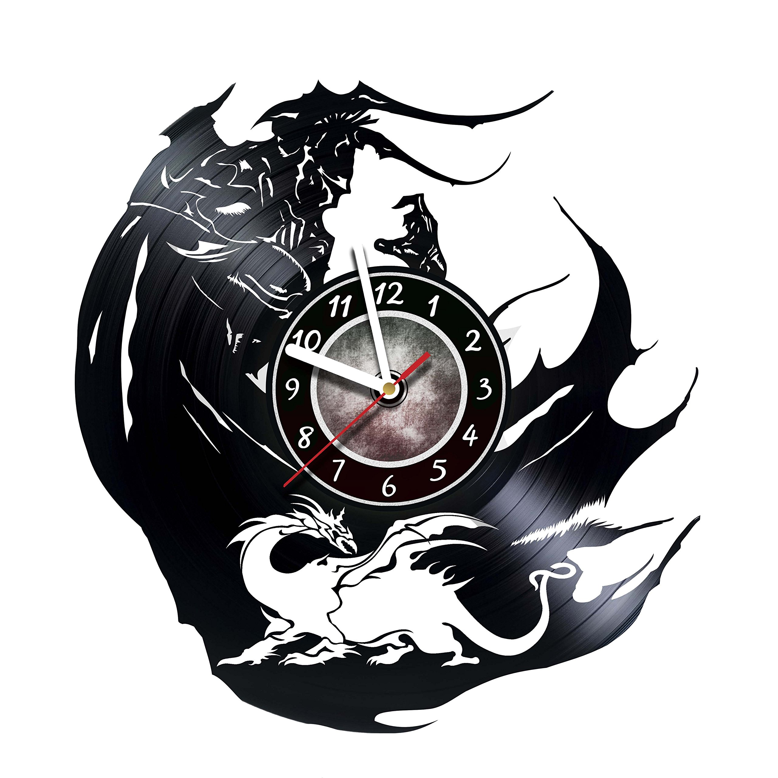 Iskra Shop Final Fantasy - Vinyl Record Wall Clock - Get unique living room wall decor - Gift ideas for boys and girls, friends, men and women, teens, children - Role-playing games Unique Art Design