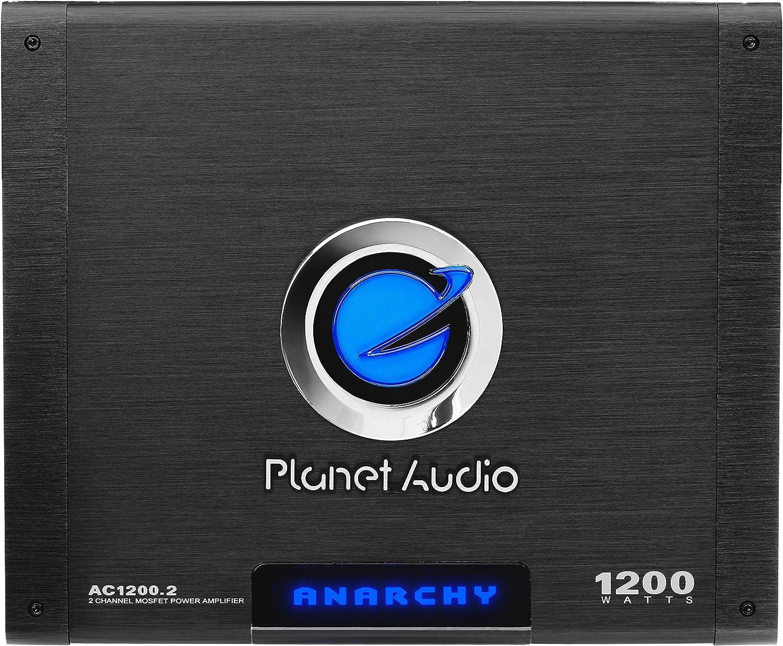 PLANET AUDIO AC1200.2 1200W 2 Channel Car A//B Amplifier Amp AC12002+8 Ga Amp Kit