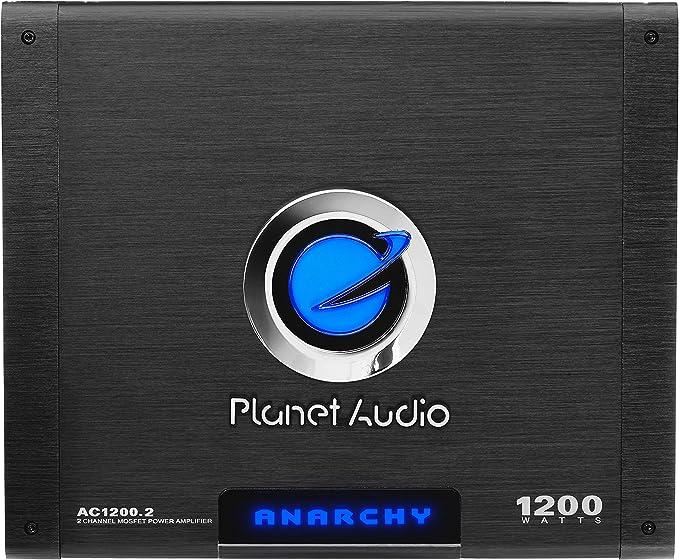 Planet Audio Anarchy AC1200.4 1200 Watt 4 Channel Car Amplifier+Amp Kit