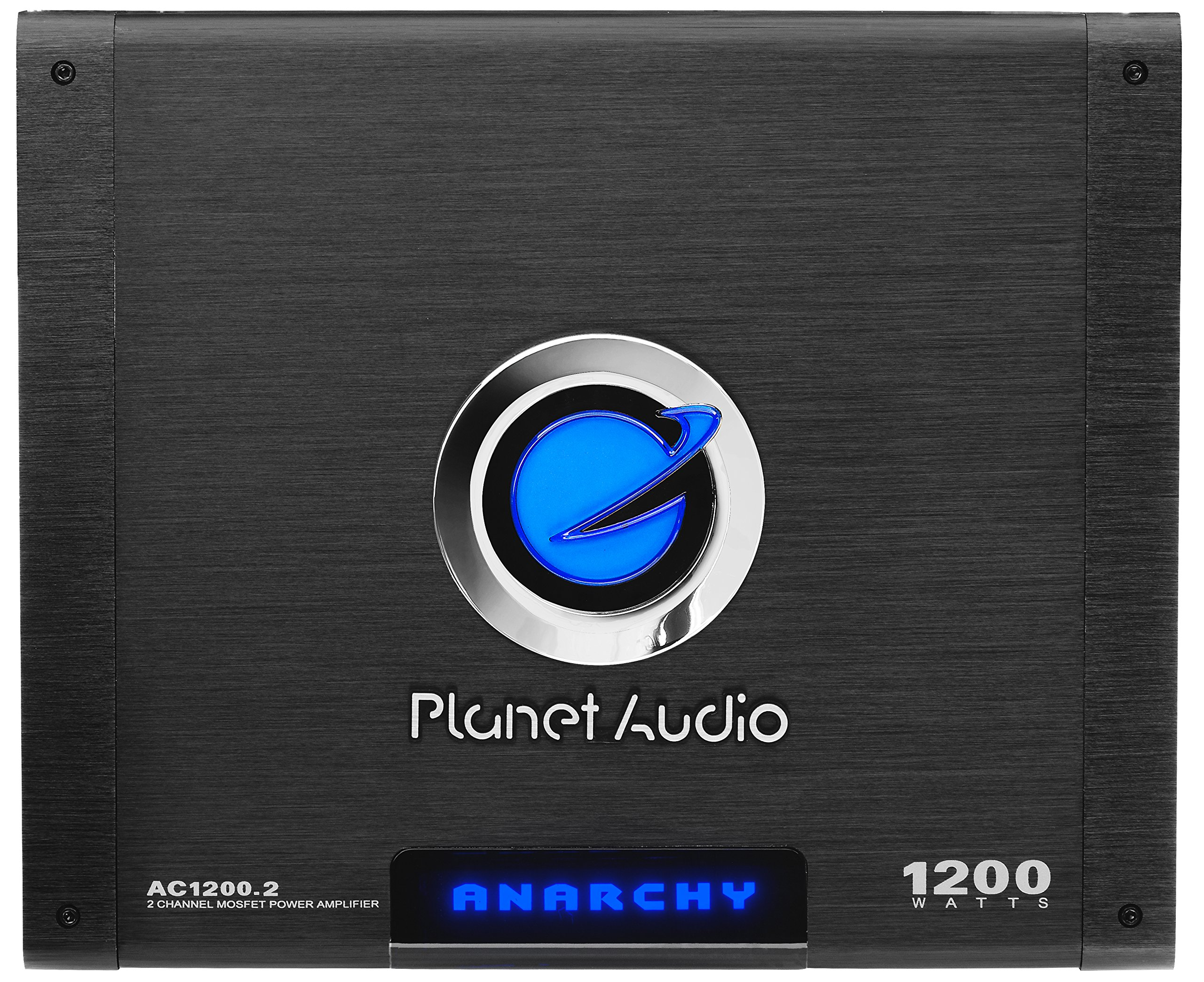 Planet Audio AC1200.2 Anarchy 1200 Watt, 2 Channel, 2/4 Ohm Stable Class A/B, Full Range, Bridgeable, MOSFET Car Amplifier with Remote Subwoofer Control