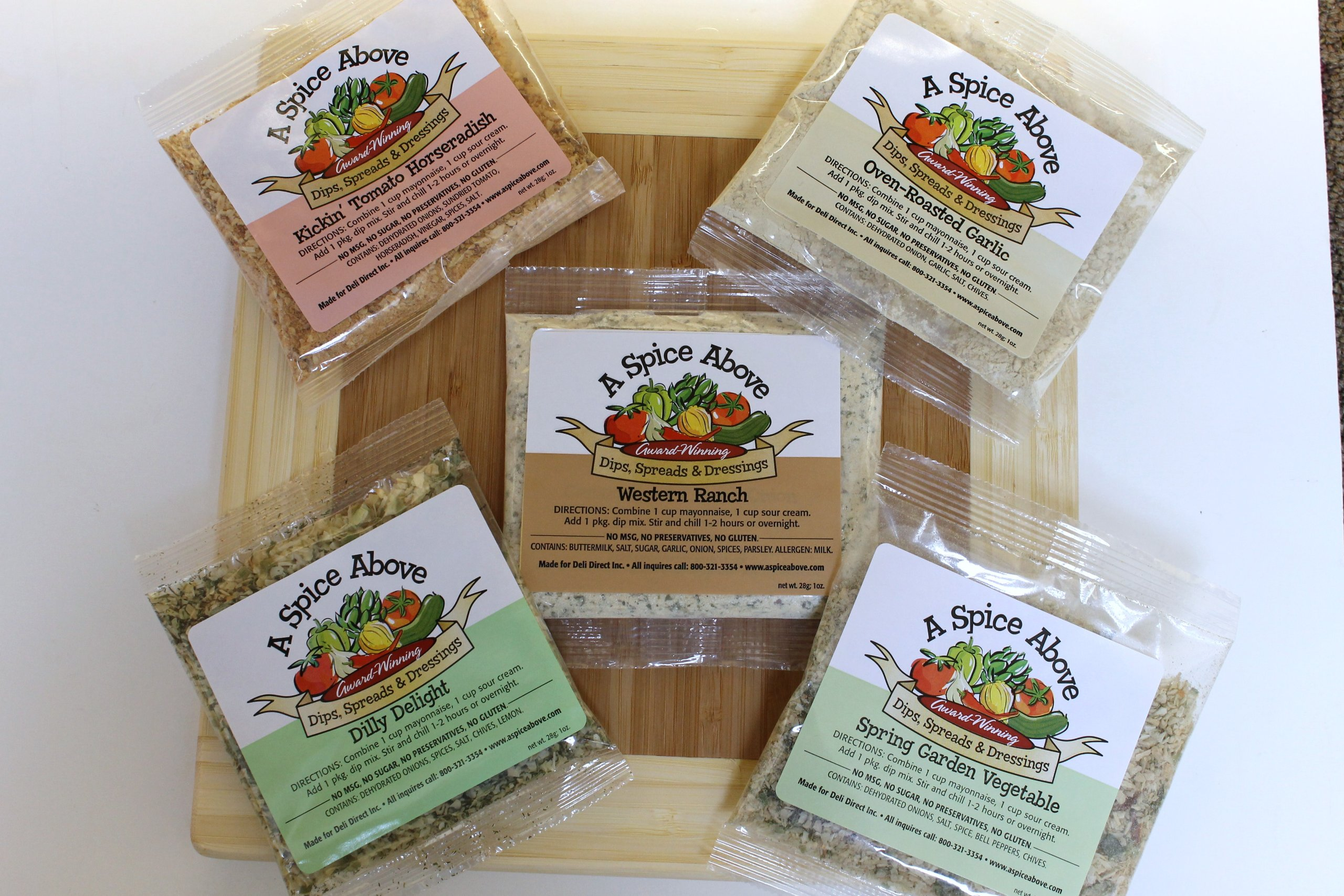 A Spice Above Variety Pack of 5 Dips by Deli Direct/A Spice Above