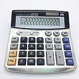 Calcolatrice elettronica desktop con 12 cifre Display grande Batteria o alimentatore solare Calcolatore ufficio