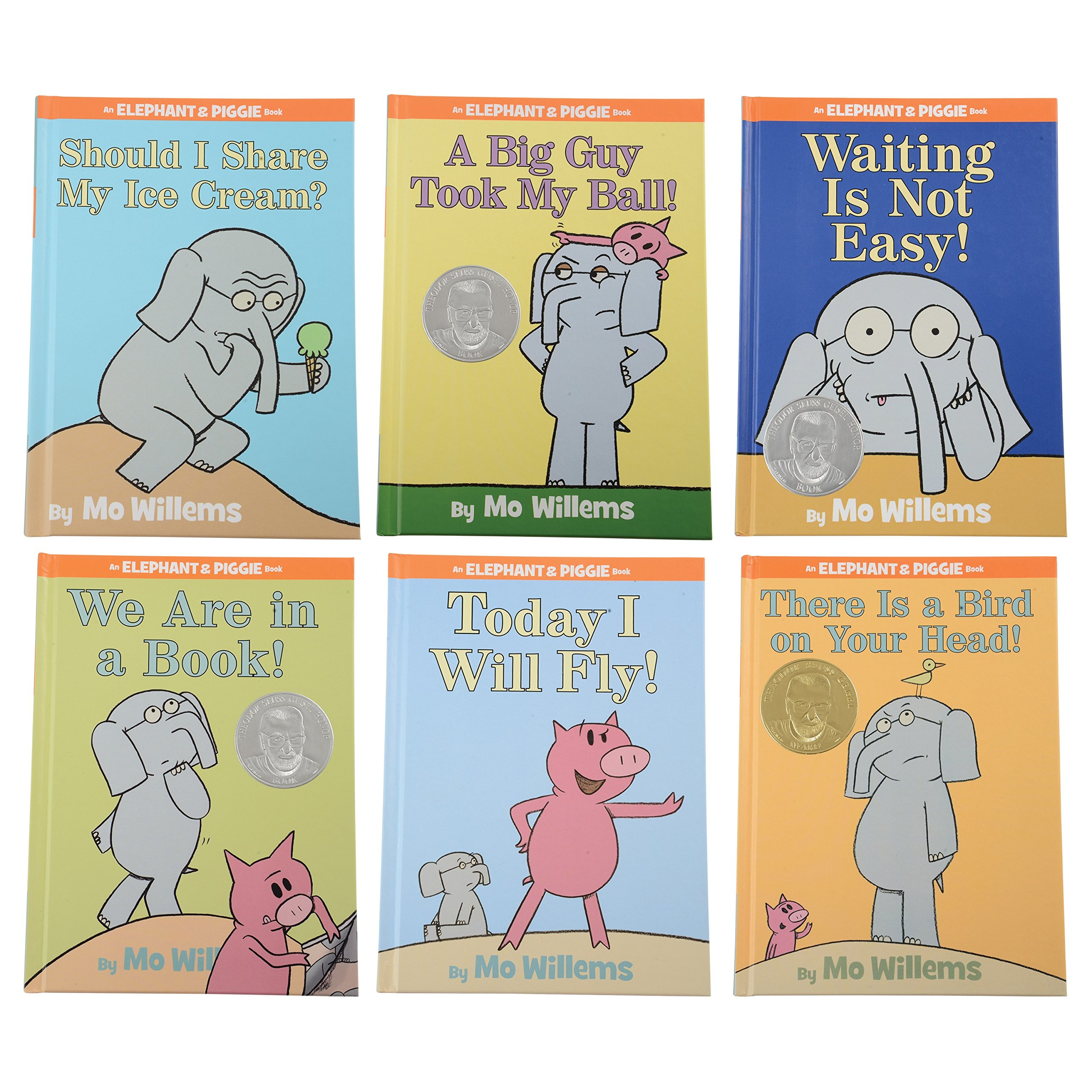 Constructive Playthings LB-500 Elephant and Piggy Hardcover Book Set of 6 by MO Willems, Grade: Kindergarten to 3, Age: 2.16'' Height, 1.5'' Wide, 1.5'' Length