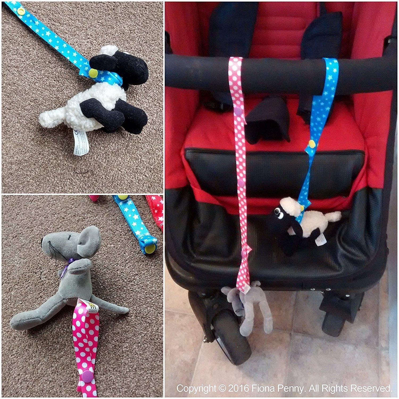 Timorn 12pcs Adjustable Baby Infant Toys Strap Belt Holders Bottle Toys Strap for Highchair Car and Stroller (12pcs)