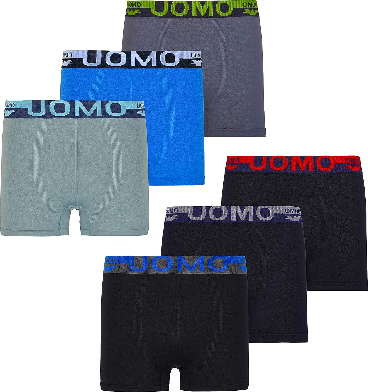 MC Calzoncillos bóxer para Hombre Uomo 6/12 Unidades de Microfibra/algodón