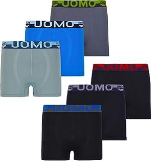 MC.TAM - Calzoncillos tipo bóxer para hombre, 95% algodón (Oeko Tex® Standard 100) Pack de 6 uds. XXL: Amazon.es: Ropa y accesorios