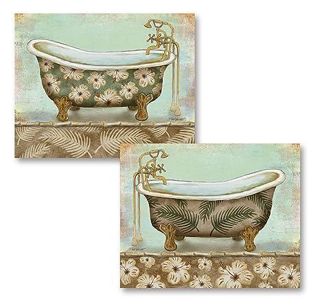 Amazon.com: 2 Vintage Baño Tinas; Dos 10 X 8 Cartel ...