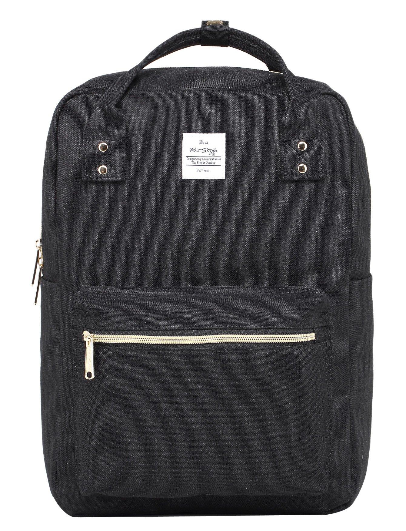 DISA Backpack Purse   Fits 15-inch MacBook   14.3''x10''x5.5''   Black
