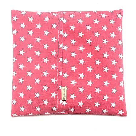 Saco Térmico de Semillas Aroma Lavanda, Azahar o Romero Tejido Rojo con Estrellas (Sin Aroma, L (28 x 26 x 2 CM con Funda))