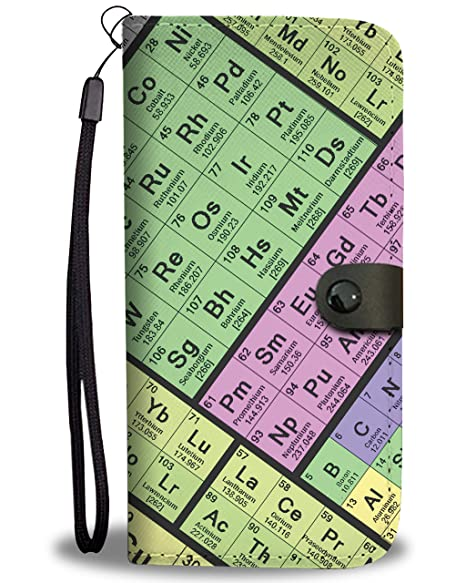 Periodic Table Wallet Phone Case, SAMSUNG GALAXY S9