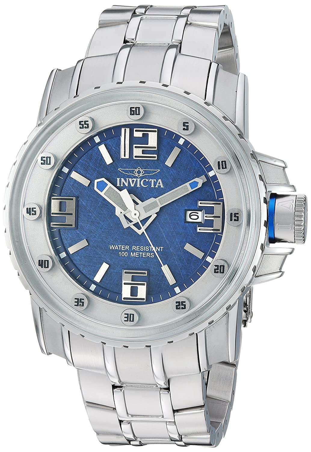 Invicta Men 's ' Pro Diver ' AutomaticステンレススチールCasual Watch, Color : silver-toned (モデル: 26027 ) B079D37ZVW