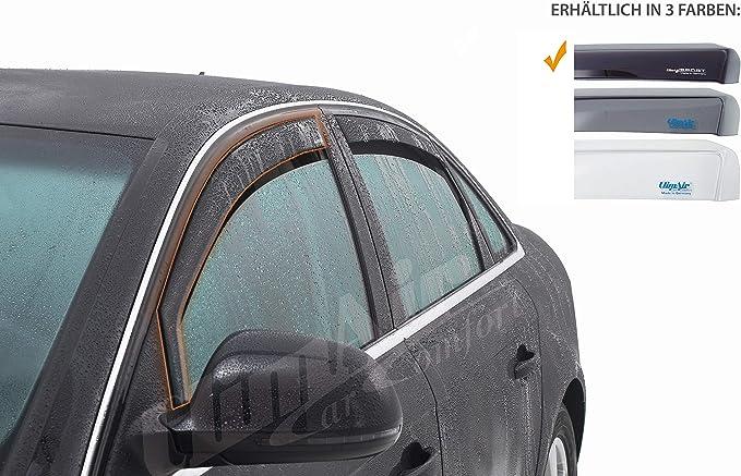 Vordere Windabweiser 1 Set Für Die Fahrer Und Beifahrerseite Cls0033830d Passend Für Opel Adam Typ S D Flh 3 Door 2013 Dunkles Material Auto