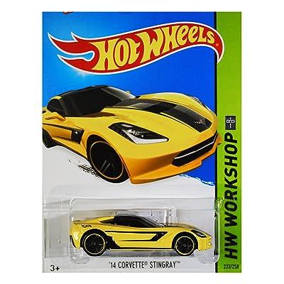 Hot Wheels 2015 HW Workshop '14 Corvette Stingray 233/250, Yellow: Toys & Games