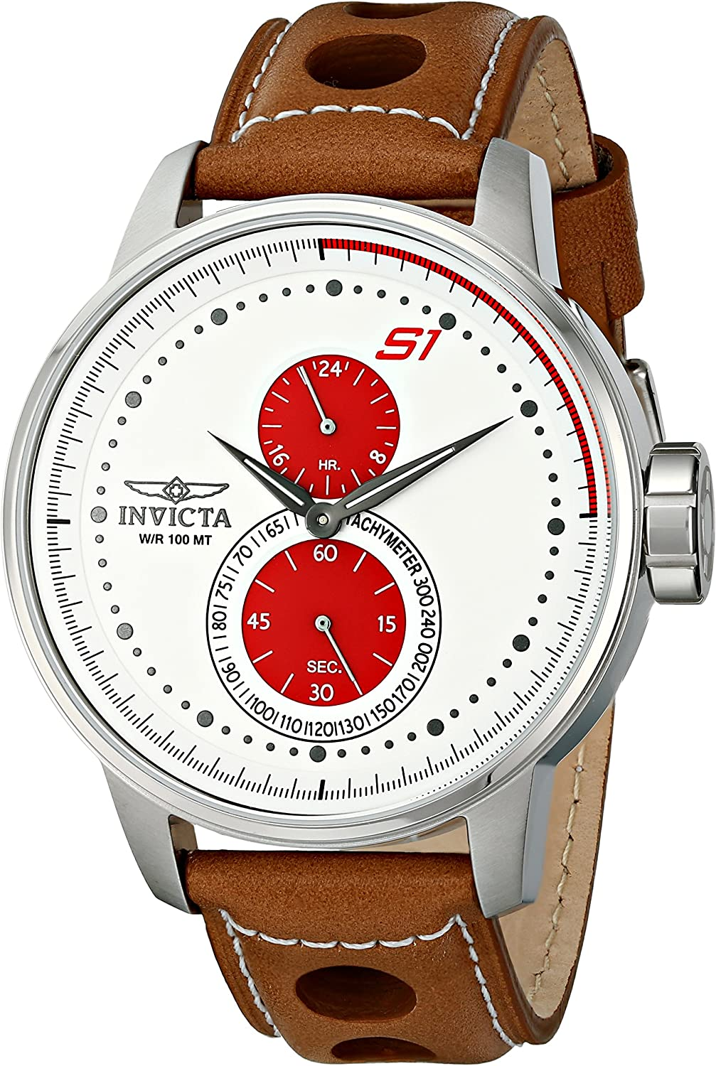 Invicta Men s 16018 S1 Rally Analog Display Japanese Quartz Brown Watch