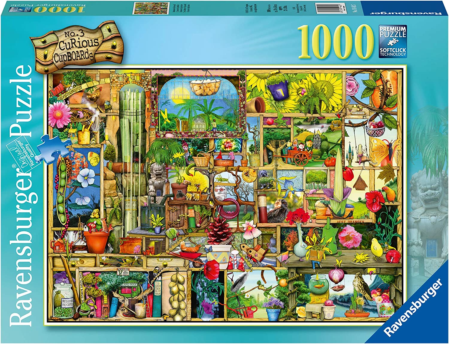 Ravensburger The Gardener's Cupboard 1000 Piece Jigsaw Puzzle for Adults – Every piece is unique, Softclick technology Means Pieces Fit Together Perfectly