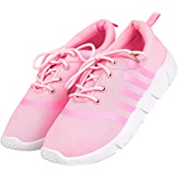DRUNKEN Women's Sports Mesh Pink Running Shoes, Football Shoes, Cricket Shoes,Basketball Shoes, Badminton Shoes, Walking Shoes, Tennis Shoes