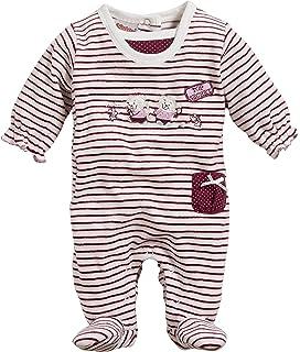 Schnizler Baby-M/ädchen Schlafoverall Interlock V/ögelchen Schlafstrampler