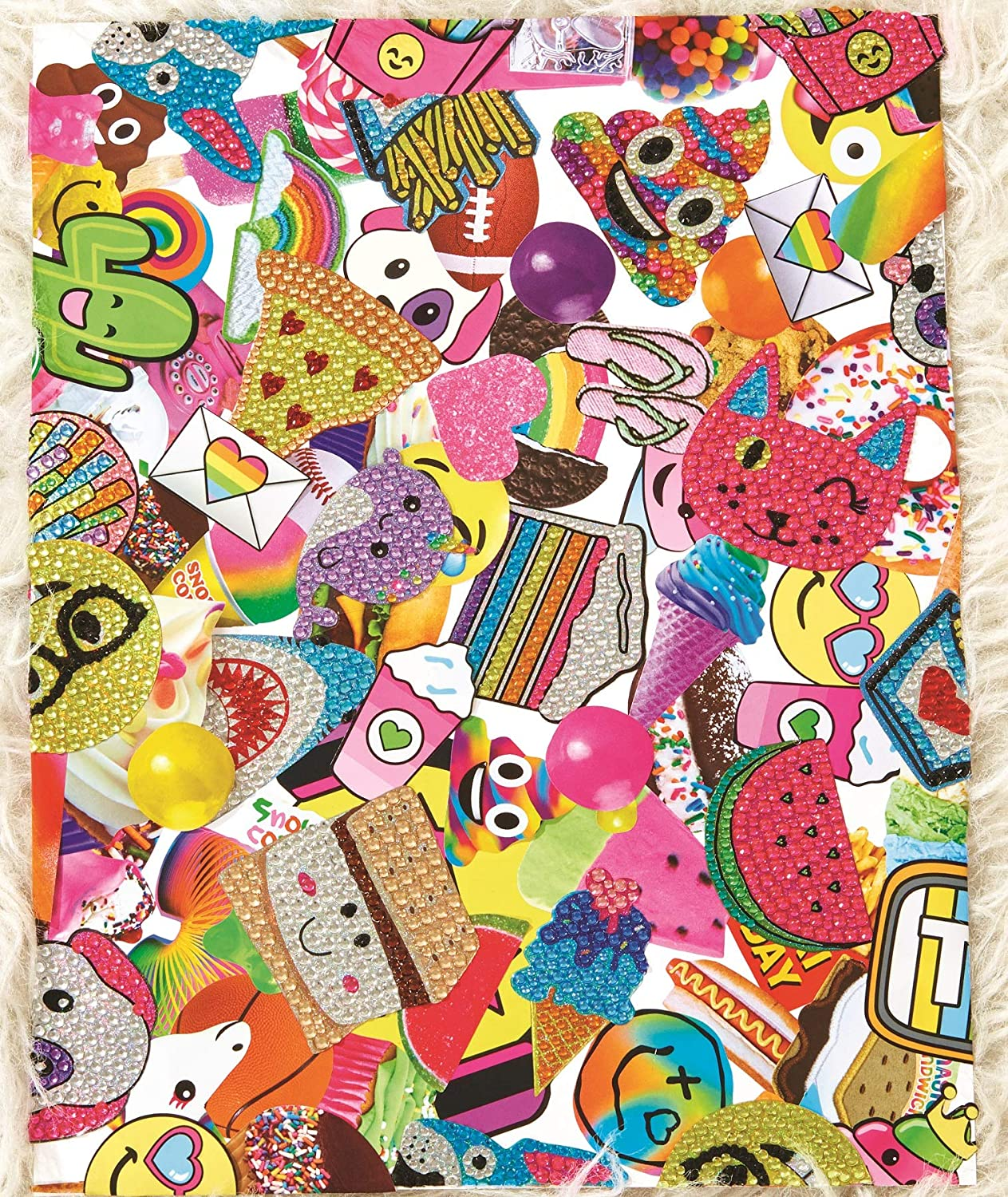 iscream Groovy Patches Sheet of 8 Repositionable Vinyl Cling Decals The Mines Press Inc.