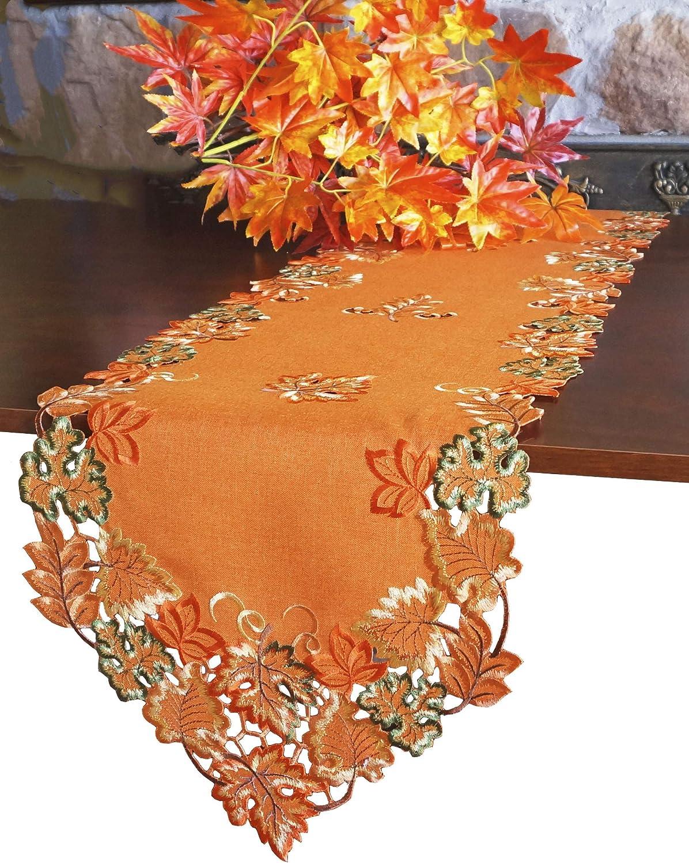 GRANDDECO Harvest Fall Table Runner 13