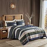 Woolrich 100% Cotton Quilt Reversible Plaid Cabin Lifestyle Design All Season, Breathable Coverlet Bedspread Bedding Set…