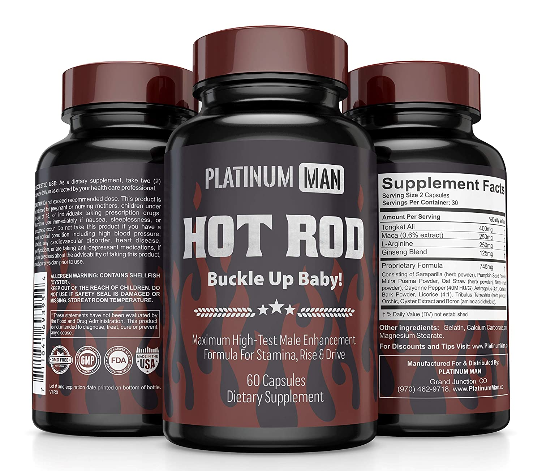PLATINUM MAN Male Enhancing Supplement #1 Natural Testosterone Booster for  Men Over 40 - L