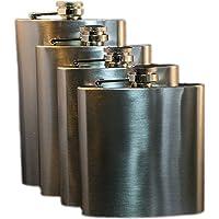 Portable Stainless Steel Pocket Hip Flask Wine Liquor Whiskey Vodka Beverage Bottle Travel - Various Sizes