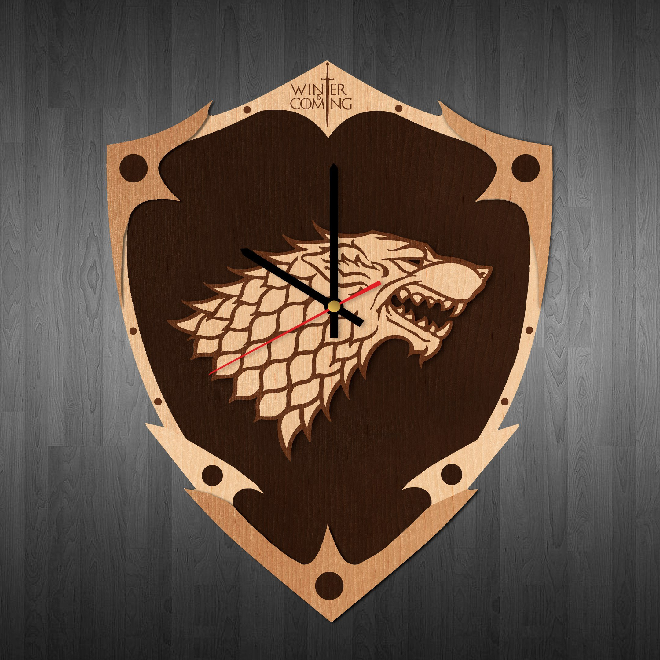 Wall clock Game of thrones, game of thrones wall poster, Game of thrones wall decal