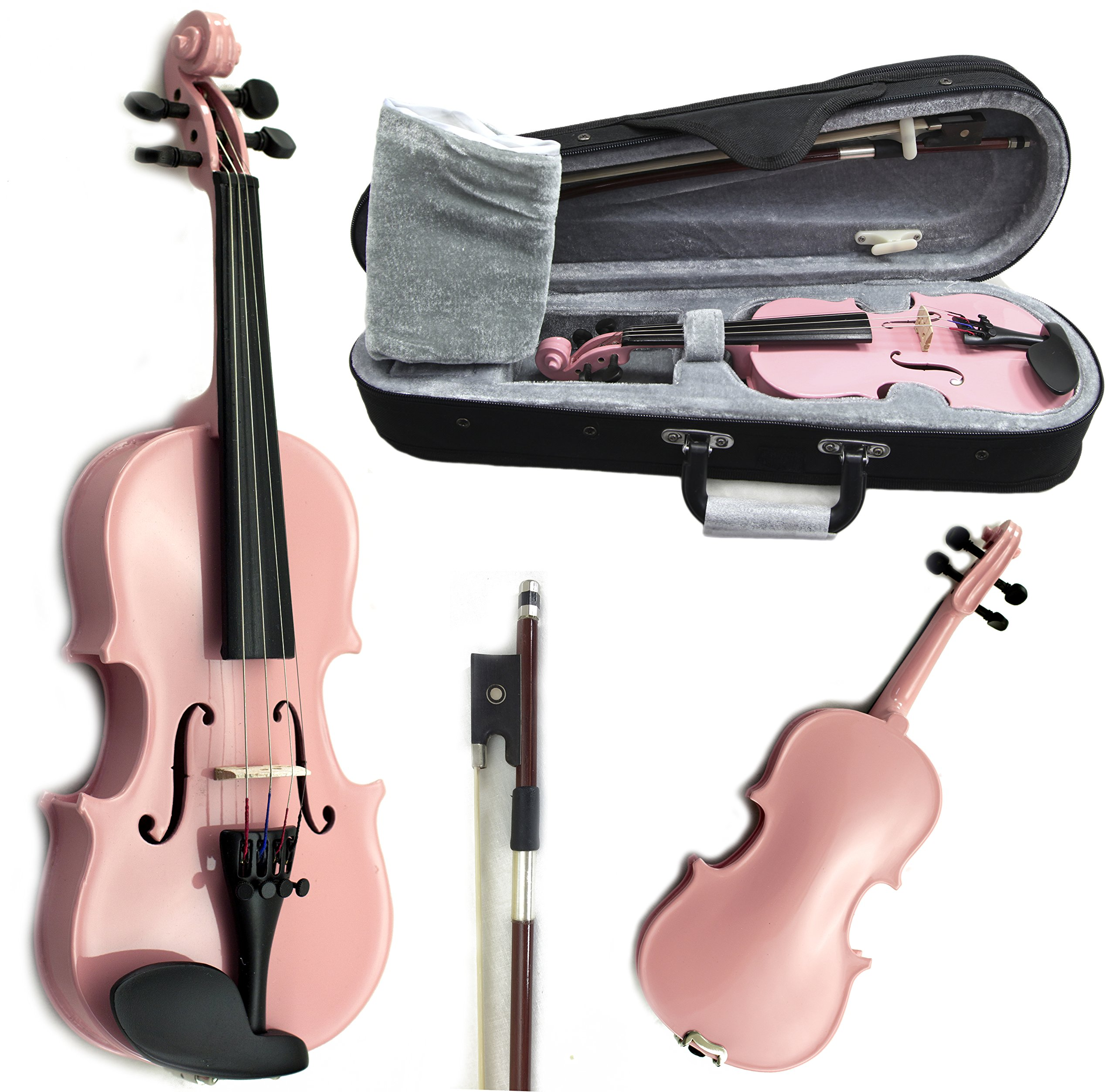 SKY Brand New Children's Violin 1/16 Size Pink Color by Sky (Image #1)