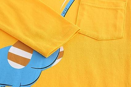 93530a63966 Amazon.com: Boys Cotton Long Sleeve T-Shirts Dinosaur Tee Tops: Clothing