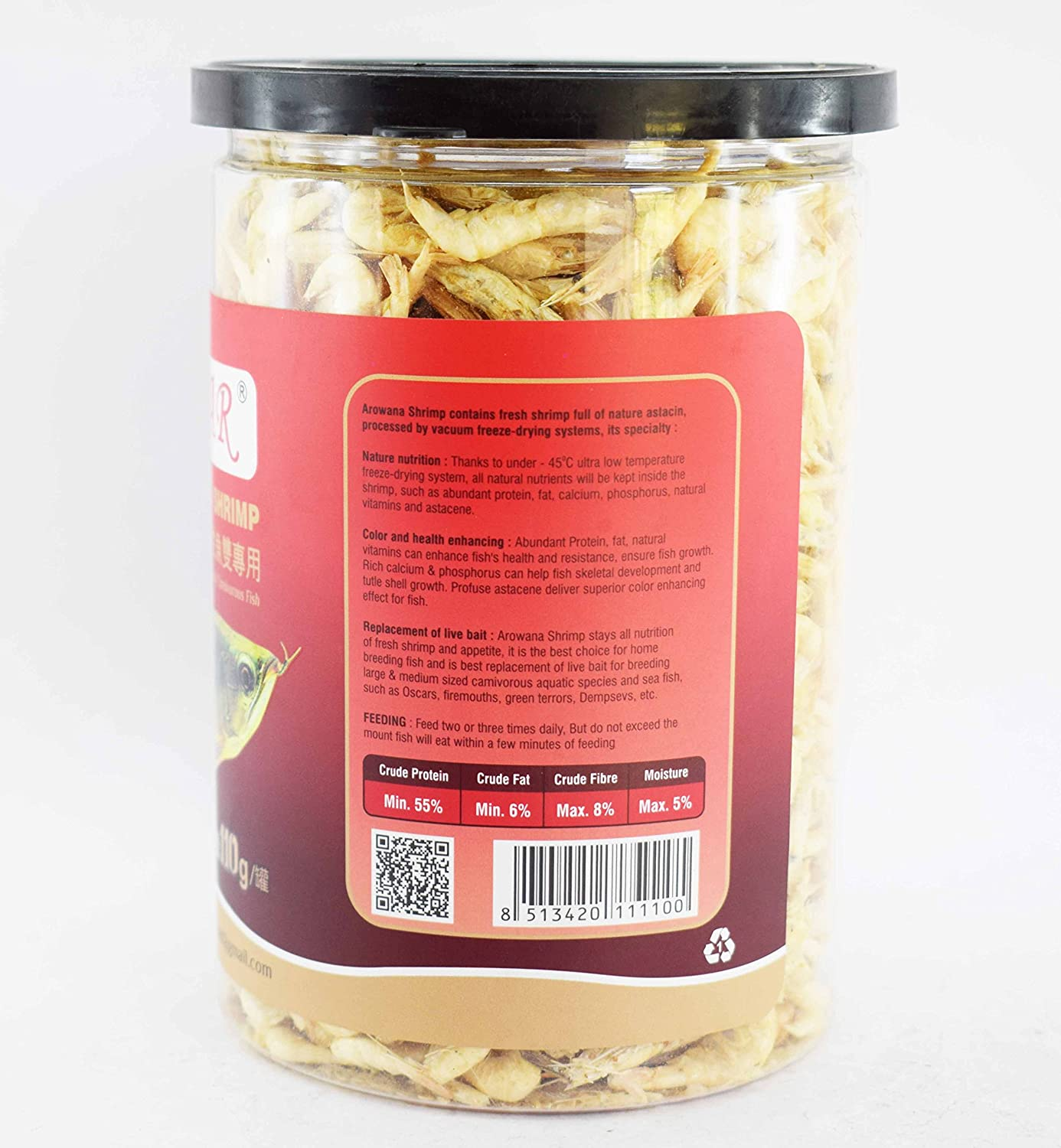 Buy Colourfultm Red Star Shrimp Feed Freeze Dried Fish Food For ...
