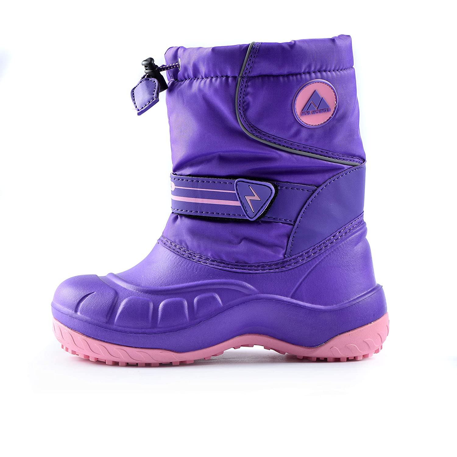 Nova Mountain Boys and Girls Waterproof Winter Snow Boots