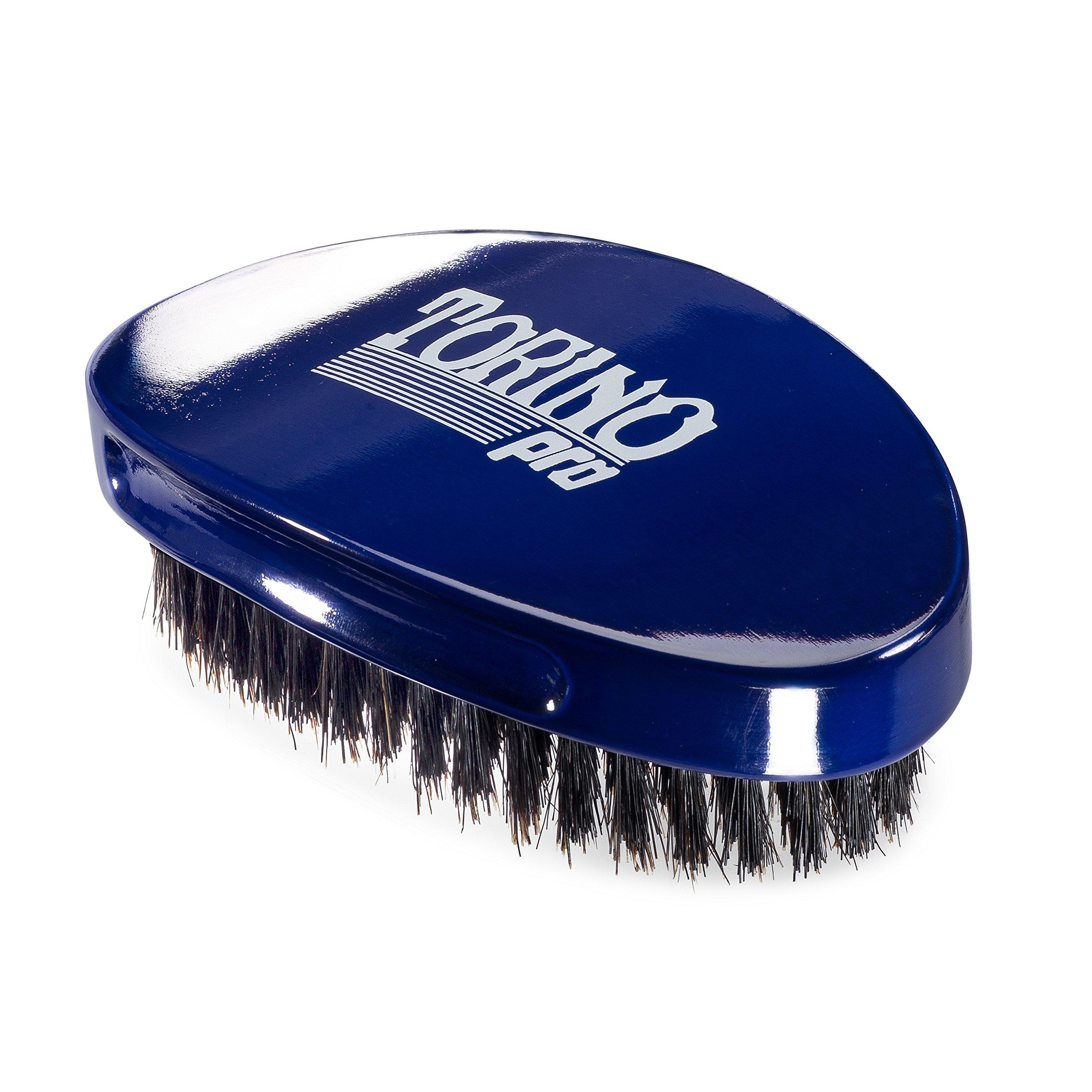 Torino Pro Wave Brush #680 By Brush King - Medium Curve 360 Waves Palm Brush