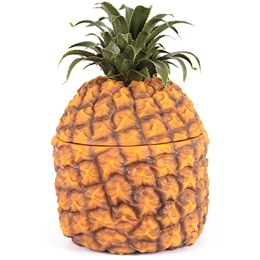 Retro Pineapple Ice Bucket - Vintage Plastic Pineapple Shaped Centrepiece