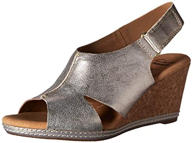 41a022200bd CLARKS Women s Helio Float Wedge Sandal
