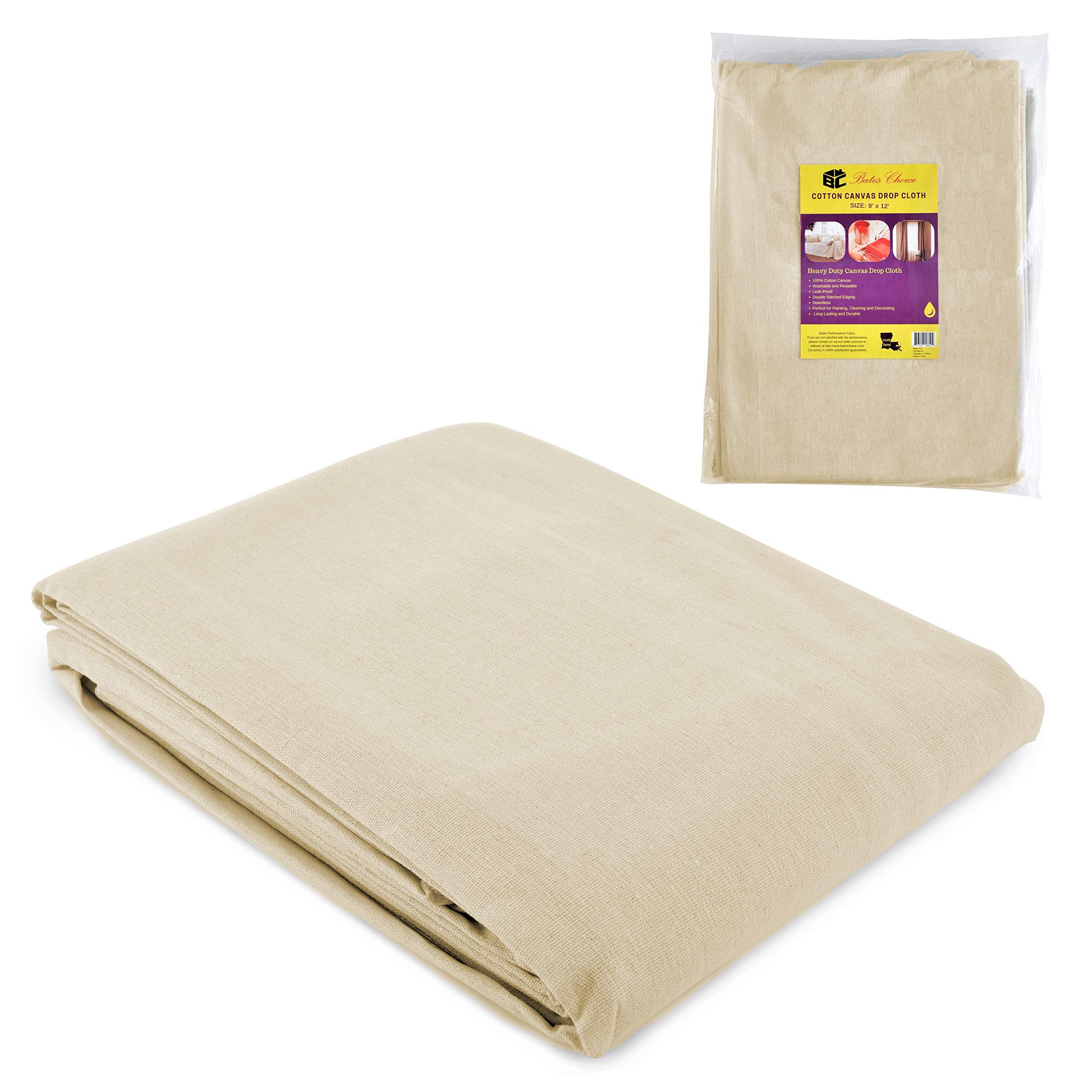 Bates- Drop Cloth, Canvas Drop Cloth 9x12, Canvas Tarp, Canvas Fabric, Drop Cloth Curtains, Drop Cloths for Painting, Painters Drop Cloth, Paint Drop Cloth, Paint Tarp, Painting Supplies, Canvas Sheet