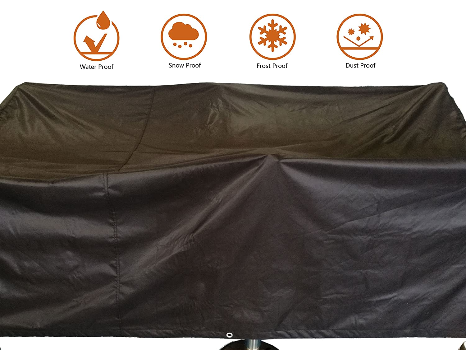 ANSIO Patio Set Cover Outdoor Garden Furniture Cover, Polyester Oxford Material, Water Proof, Dust Proof, 2.1 m Length X 1.1 m Width X 0.7 m Height