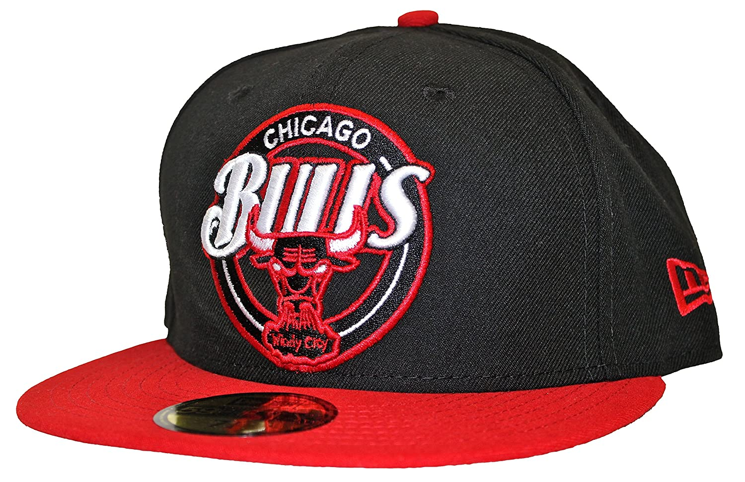 54c3132871198 New Era 59Fifty Custom Closer Chicago Bulls Black Red Fitted Cap at Amazon  Men s Clothing store