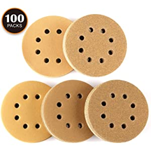 10Pcs Each Assorted 40//60//80//120//180//240 Grits Dewalt ASD03C TACKLIFE 125mm Wear-Resistant Sanding Pads to Fit Makita Bosch Vonhaus Random Orbit Sander Ryobi 60PCS Sandpaper Tacklife