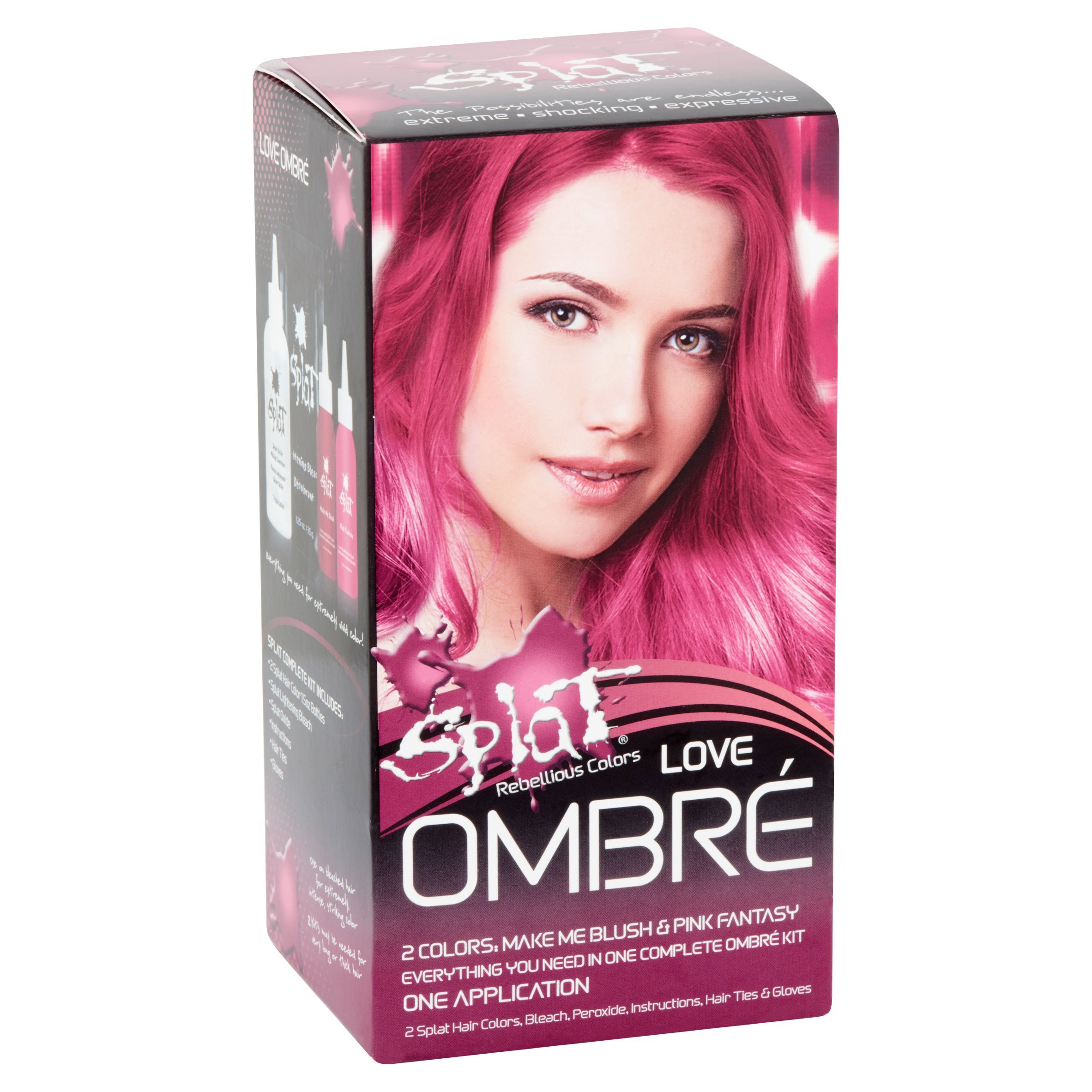 Amazon.com : Splat Rebellious Colors Hair Coloring Complete Kit Rain ...