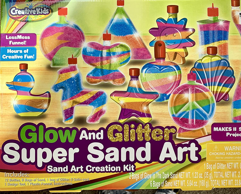 Creative Kids Glow in the Dark Super Glitter Sand Art Kit