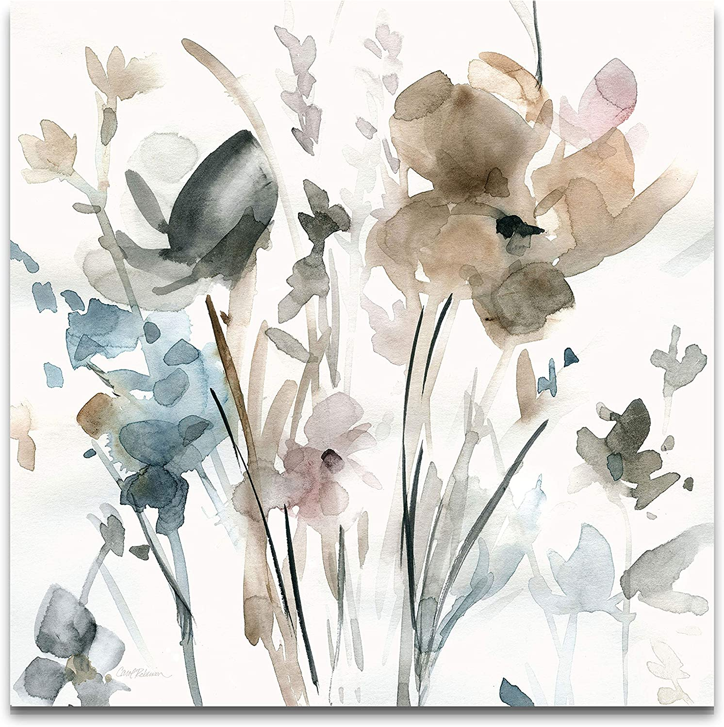 WEXFORD HOME Dainty Blooms II Gallery Wrapped Canvas Wall Art, 10x10, Multicolor