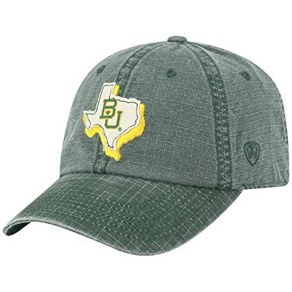 new arrival dae1b 4a82e Image Unavailable. Image not available for. Color  Top of the World Baylor  Bears Official NCAA Adjustable Stateline Cotton Hat Cap 456492