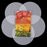 Kispog 5Pcs/Set Premium Non-Stick Silicone Dehydrator Sheets Compatible For Ninja Instant Pot Dehydrator Rack, Round 7…