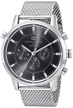 716db267ac747 Amazon.com  Tommy Hilfiger Men s 1790877 Silver-Tone Stainless Steel Watch  Tommy  Hilfiger  Watches