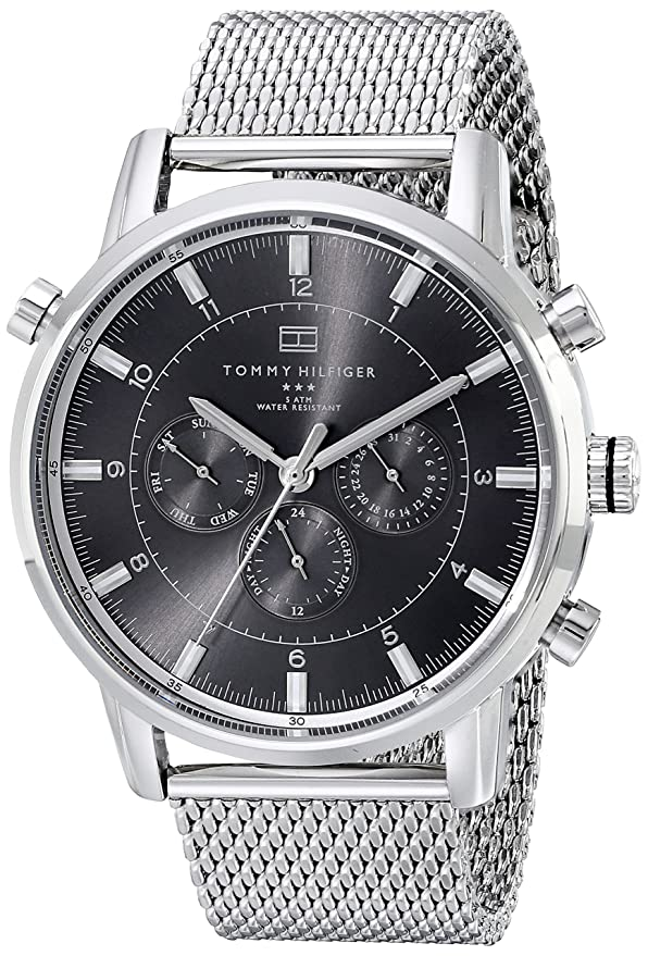 e51d35a8f Amazon.com: Tommy Hilfiger Men's 1790877 Silver-Tone Stainless Steel Watch:  Tommy Hilfiger: Watches