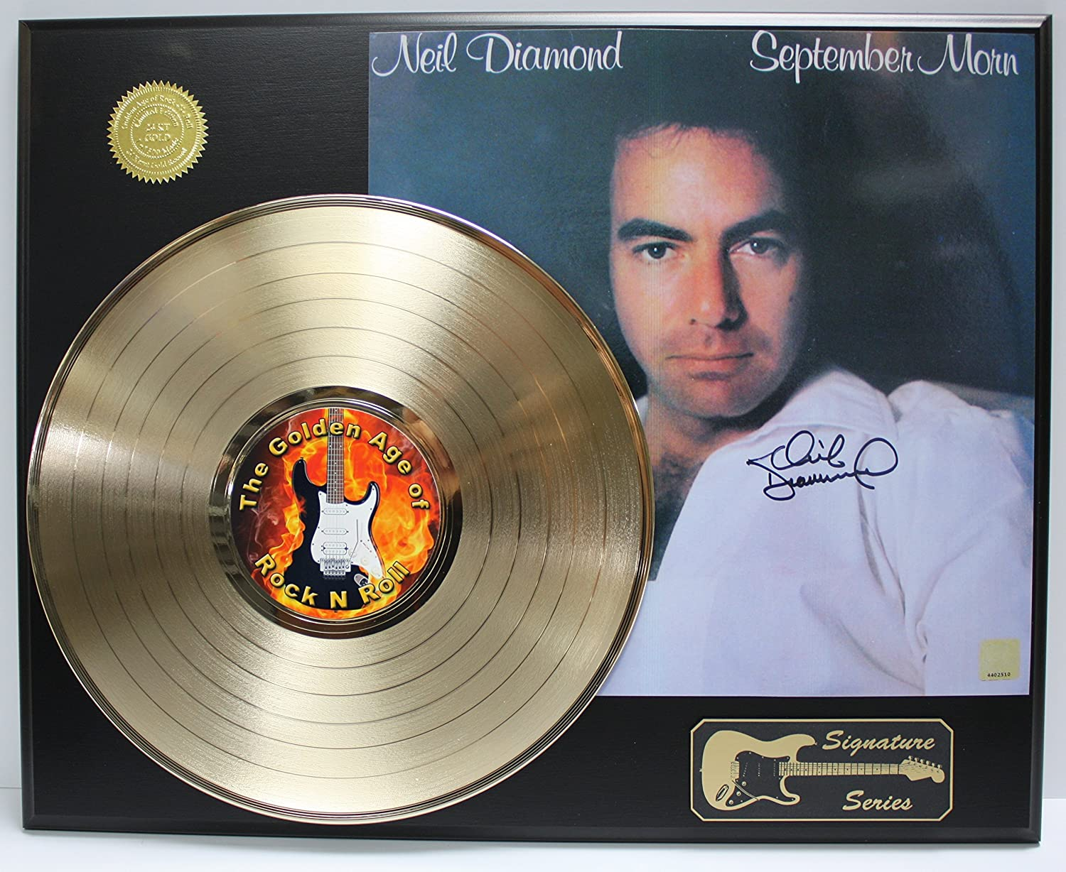 Neil Diamond Gold LP Record Signature Series Limited Edition Display