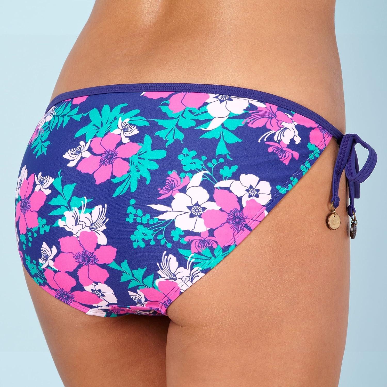 Mantaray Purple Floral Tie Side Bikini Bottoms Mantaray Amazonco